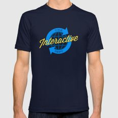 The Interactive Department Navy Mens Fitted Tee SMALL