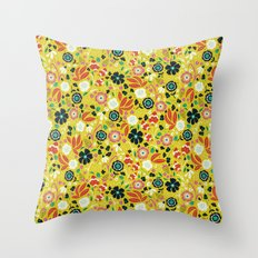 Flourishing Florals Throw Pillow