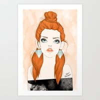 Red-haired girl Art Print