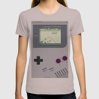 OLD GOOD GAMEBOY Womens Fitted Tee Cinder SMALL