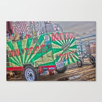 Hot Dogs on The Pier Canvas Print