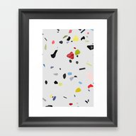 Painted Terrazzo 1 Framed Art Print