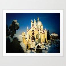 St. Nicholas Orthodox Church in Brasov, Romania Art Print