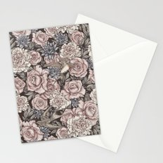 Flowers & Swallows Stationery Cards