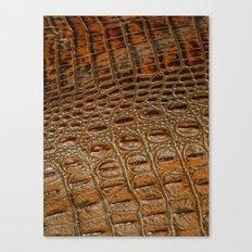 It's A Croc! - Faux (2D) Crocodile Hide Canvas Print