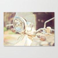 Sunny Vespa Canvas Print