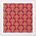 Paper Doily (RED) Art Print