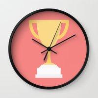 #100 Trophy Wall Clock
