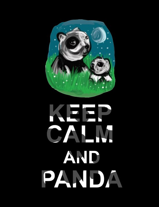 Keep Calm and Panda Art Print