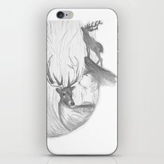 Stag and man iPhone & iPod Skin