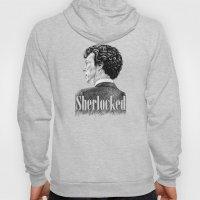 Sherlocked - Sherlock Holmes Benedict Cumberbatch Crosshatch Etching Hoody
