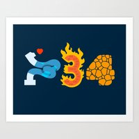 Fantastic Numbers Art Print