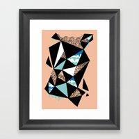 Crystalized I Framed Art Print