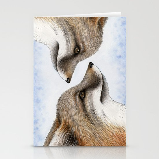 Grey Fox Stationery Card