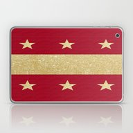 Christmas Stripe & Stars Laptop & iPad Skin