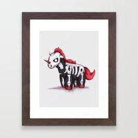 Evil Unicorn Framed Art Print