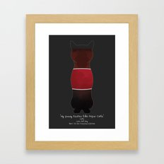 My Pussy Taste Like Pepsi Cola - Red SFW Version Framed Art Print