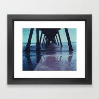 Glenelg Pier, Polaroid Framed Art Print