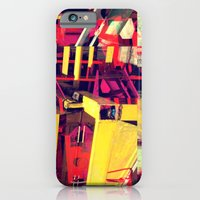 iPhone & iPod Case featuring Industrial Abstract Red by Arturo Peniche