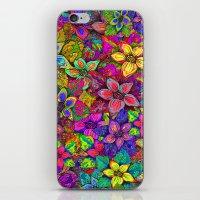 FLOWERS MISH MASH iPhone & iPod Skin