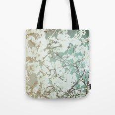 spring mediterranean almond flowers - golden orange Tote Bag