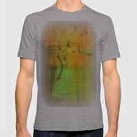 Untitled Digital Abstract - Green and Yellow Mens Fitted Tee Athletic Grey SMALL