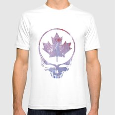 Canadian Steal Your Face (variation #3) White SMALL Mens Fitted Tee