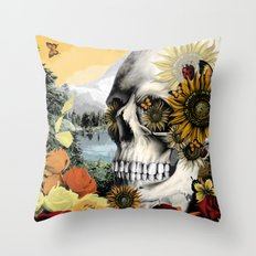 Reflections of Halloween Throw Pillow