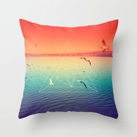 Lapse In Perception Throw Pillow