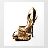 Sparkle Shoe Art Print