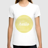 Hello Sunshine Womens Fitted Tee White SMALL