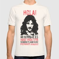 Inigo Montoya Mens Fitted Tee Natural SMALL