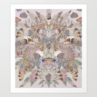 Pastel Powder Gems  Art Print