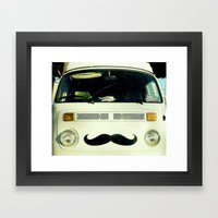 StacheWagen Framed Art Print