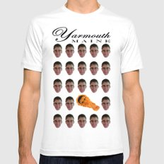 Yarmouth, MAINE White SMALL Mens Fitted Tee