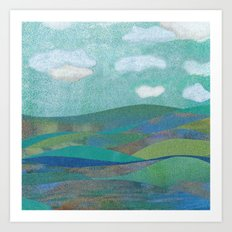COLLAGE LOVE: Seascape Art Print