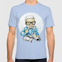 Naughty Boy By Carograph… Mens Fitted Tee Tri-Blue SMALL