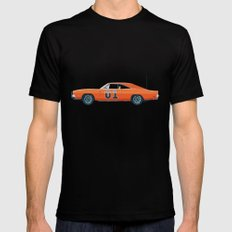 General Lee 01 Triptych set III/III Mens Fitted Tee Black SMALL