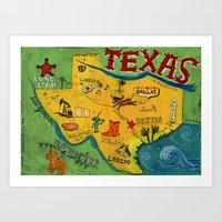 Postcard From Texas Prin… Art Print
