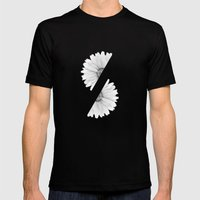 Split B&W Mens Fitted Tee Black SMALL