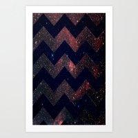 Chevron Sky Art Print