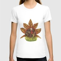 Gobble Gobble Autumn Womens Fitted Tee White SMALL