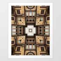 Architectural Sky Light … Art Print