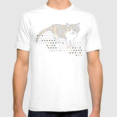 calico cat SMALL Mens Fitted Tee White