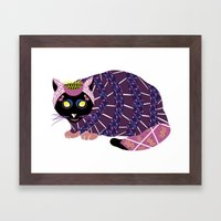 Abstract Cat [BLACK] Framed Art Print