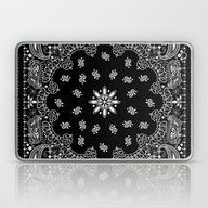 Black And White Bandana Laptop & iPad Skin
