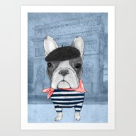 French Bulldog. Art Print