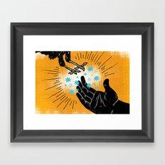 Elijah Fed By Ravens (by Vaughn Fender) Framed Art Print