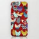 Cincinnati Chickens red iPhone & iPod Case