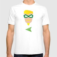 GREEN ARROW Mens Fitted Tee White SMALL